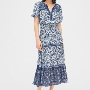 Gap short sleeve tiered maxi dress